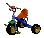 儿童玩具车,自行车3d模型