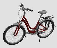 女士自行车3d模型