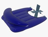 公园休闲皮划艇3d模型