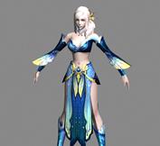 完美世界2012中的灵族女性角色3D模型