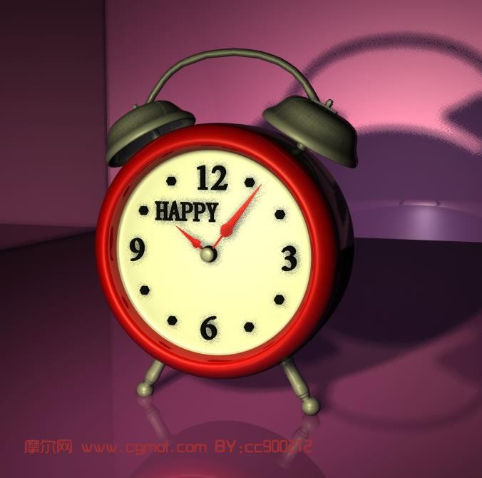 clock闹钟的maya模型