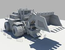 铲车,挖土车,挖土机的maya模型