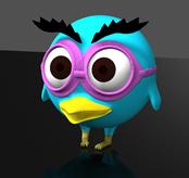 卡通小鸟3D模型