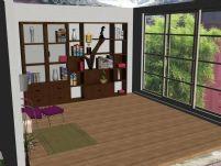 室内家具-书房3D模型