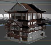 云南丽江古代建筑场景3D模型
