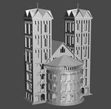 哥特教堂,城堡3d模型
