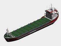 集装箱货轮3d模型