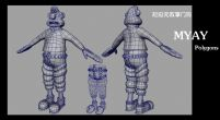 wallace,超级无敌掌门狗男主角maya模型