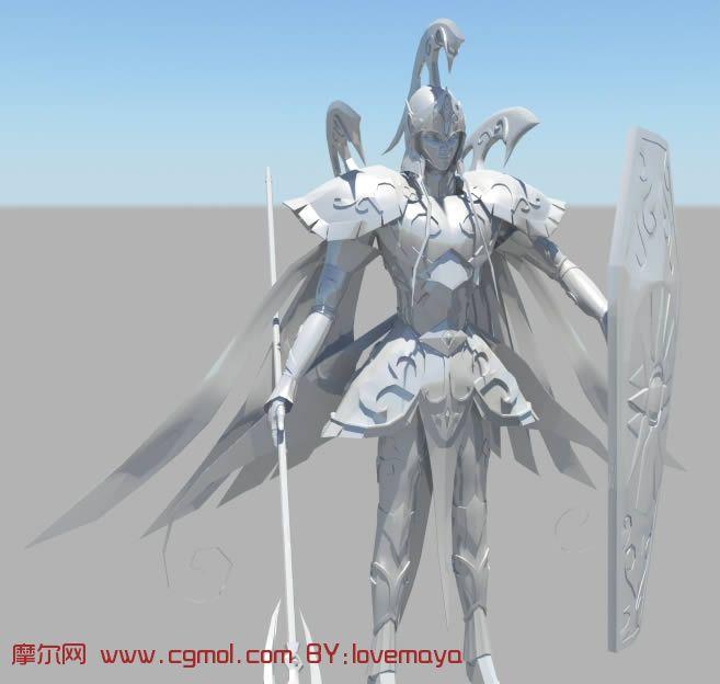 女战士maya模型 科幻角色 动画角色 高清图片