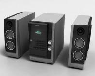 三星音箱,音响,低音炮,功放机3D模型