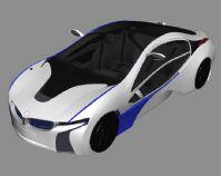 宝马概念跑车,汽车3D模型