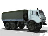 高精度军用卡车3D模型(贴图全)