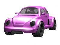 粉色大众甲壳虫3D模型