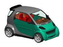 奔驰smart汽车3D模型