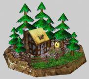 魔兽争霸中的房子小场景3d模型