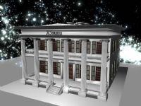 夜光下的博物馆,maya建筑模型