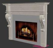 欧式古典壁炉3D模型