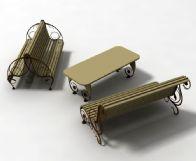 庭院休闲桌椅3D模型