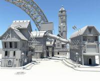 大型场景建筑maya模型图片