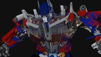 变形金刚-擎天柱的三套模型