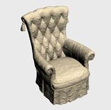 奢华雕花沙发扶手椅3d模型