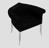 简易休闲扶手椅3d模型