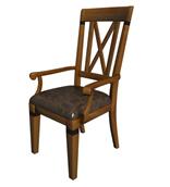 竹制靠背椅子3d模型