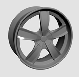 钢圈,轮毂,车轱辘3d模型