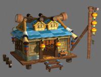 卡通房子3D模型(高模)