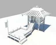 小屋,房子3D模型