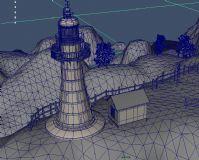海边灯塔场景maya模型