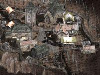 次世代游戏《生化危机4》中的小村庄场景3D模型