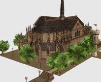 天堂2中的教堂建筑3D模型