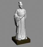 徐福,徐��,徐君房雕塑3D模型