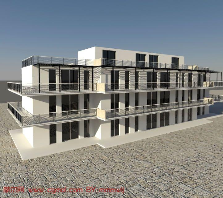 maya现代大楼,现代建筑3d模型_设计图分享