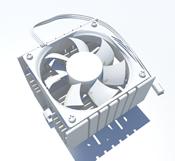 CUP�L扇3D模型