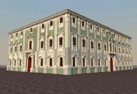 国外欧式建筑,教堂maya模型