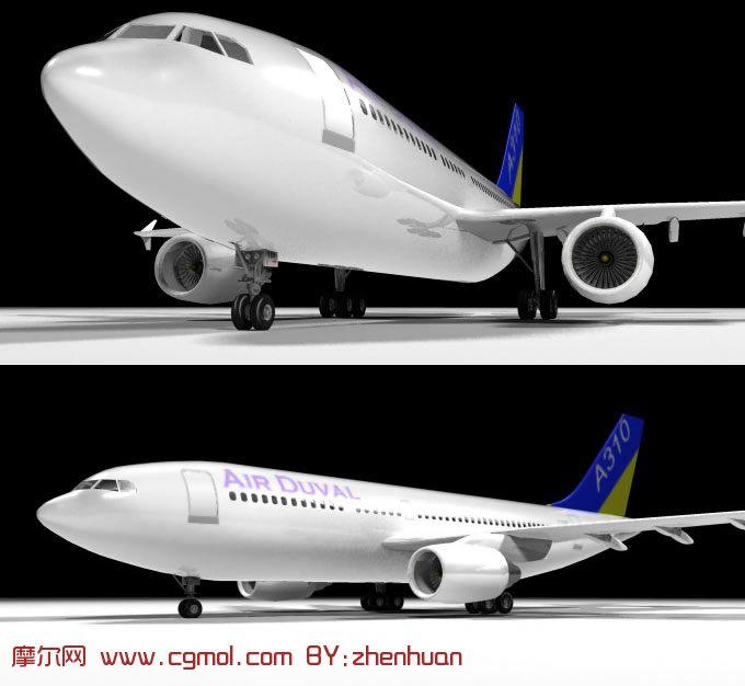 空中客车a310,3d飞机模型