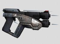 次世代游戏《质量效应2》中的手枪3D模型
