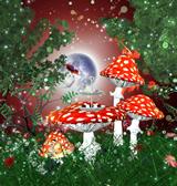 仙境蘑菇,maya个人原创模型(有材质,有灯光)