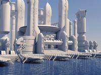 未来城市,港口,码头,maya场景模型