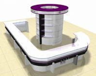 商场内化妆品专柜3D模型