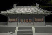 寺庙,庙宇,古代建筑3D模型