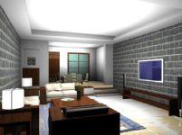 客厅,室内装饰3d模型