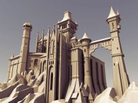 未来城堡建筑maya模型