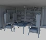 书房maya模型