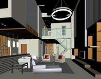 客厅,3d室内模型