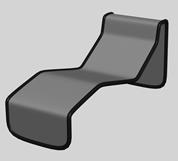 简单的躺椅3D模型