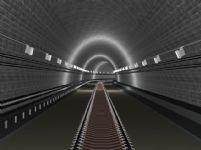 铁路隧道,3d建筑场景模型