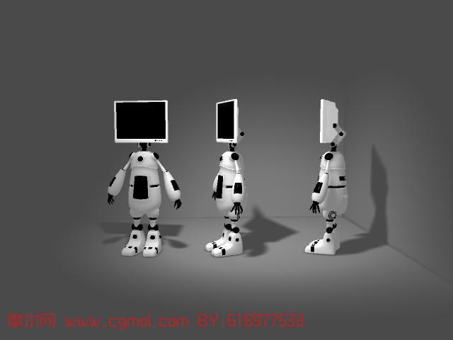 可爱机器人maya模型